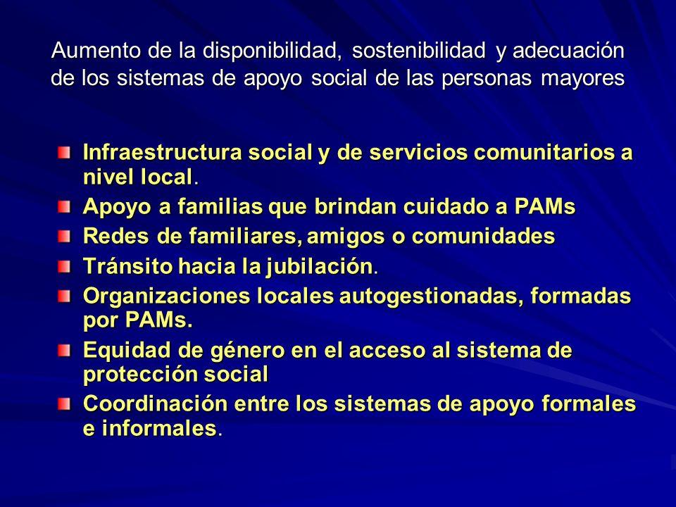Infraestructura social y de servicios comunitarios a nivel local.