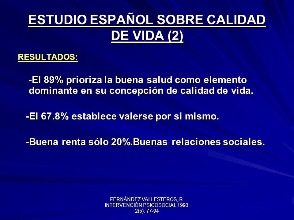 ESTUDIO ESPAÑOL SOBRE CALIDAD DE VIDA (2)