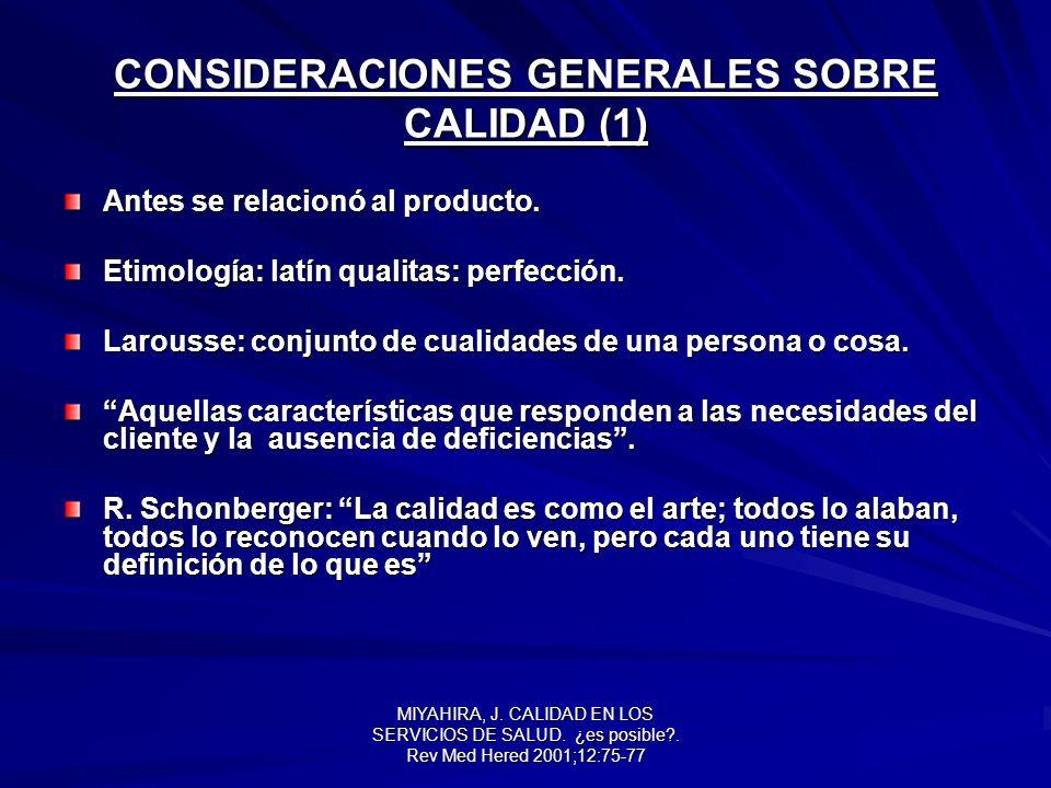 CONSIDERACIONES GENERALES SOBRE CALIDAD (1)
