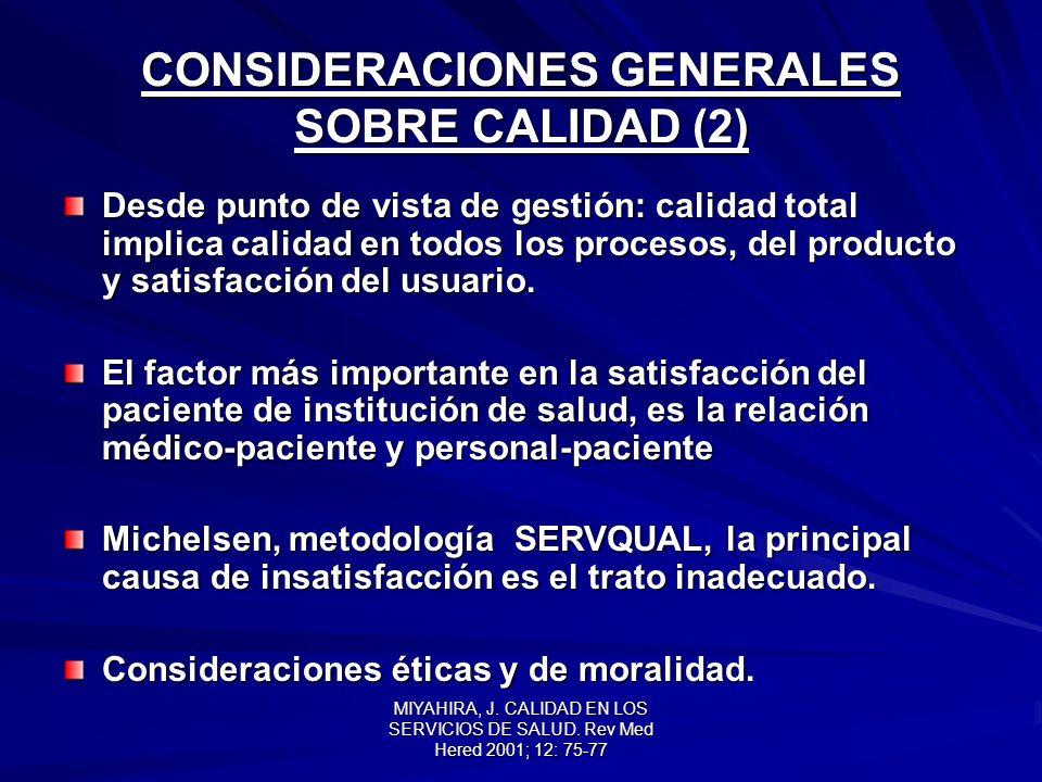 CONSIDERACIONES GENERALES SOBRE CALIDAD (2)