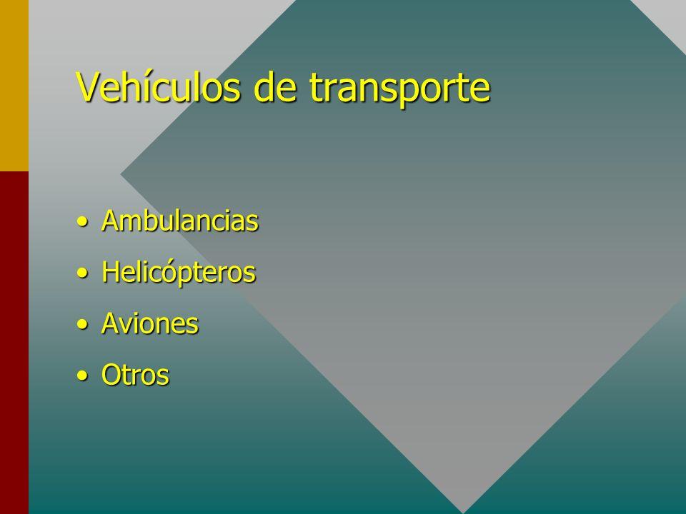 Vehículos de transporte