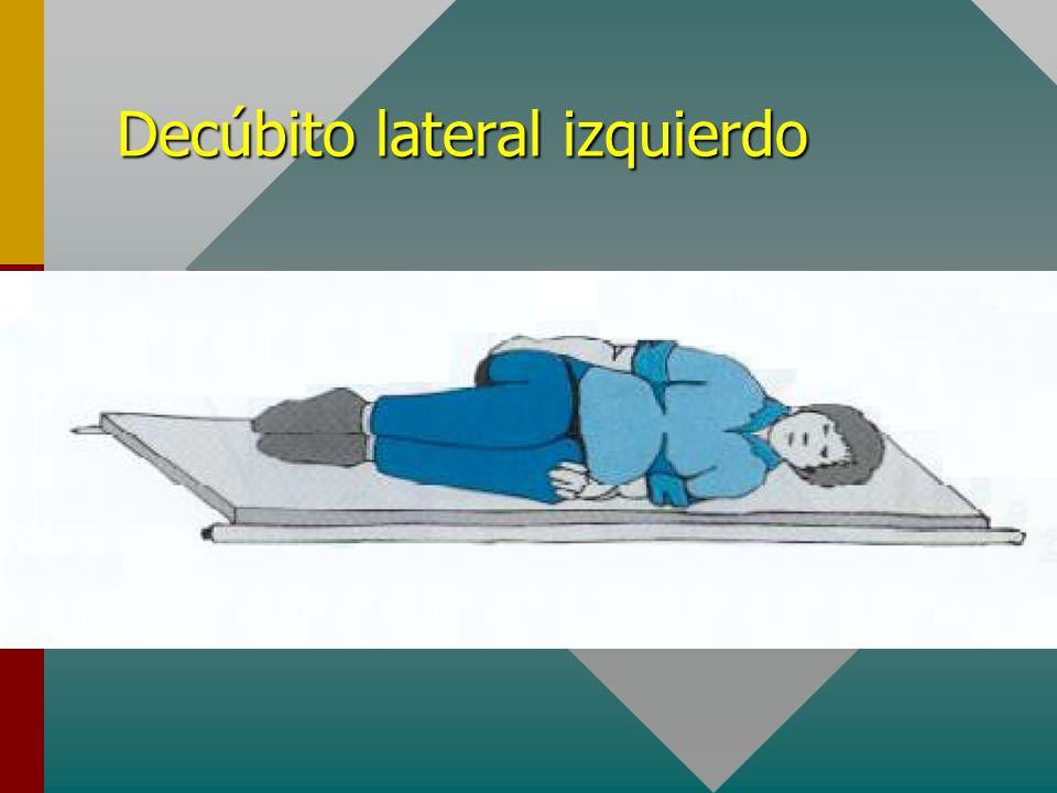 Decúbito lateral izquierdo