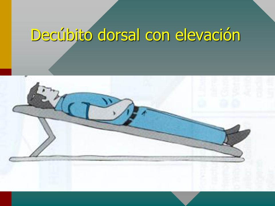 Decúbito dorsal con elevación