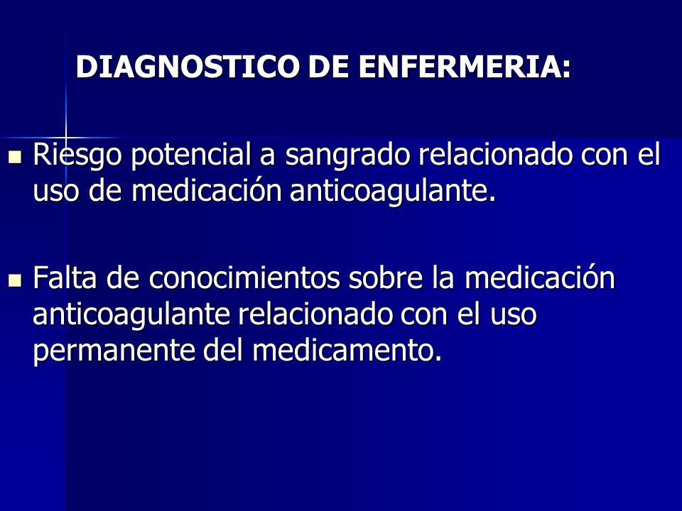 DIAGNOSTICO DE ENFERMERIA: