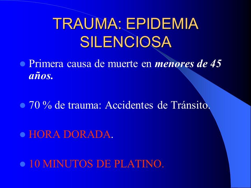 TRAUMA: EPIDEMIA SILENCIOSA