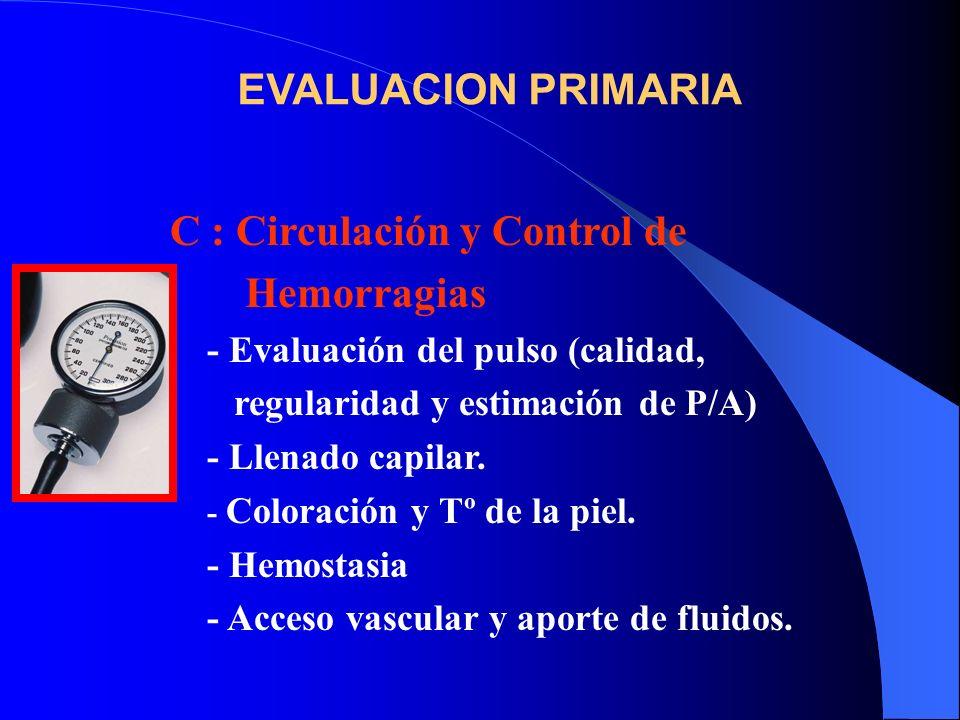 C : Circulación y Control de Hemorragias