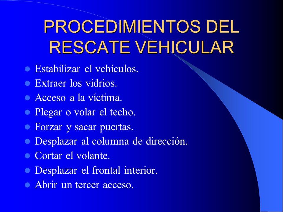 PROCEDIMIENTOS DEL RESCATE VEHICULAR