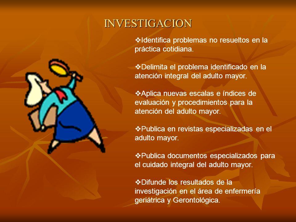 INVESTIGACION Identifica problemas no resueltos en la práctica cotidiana.