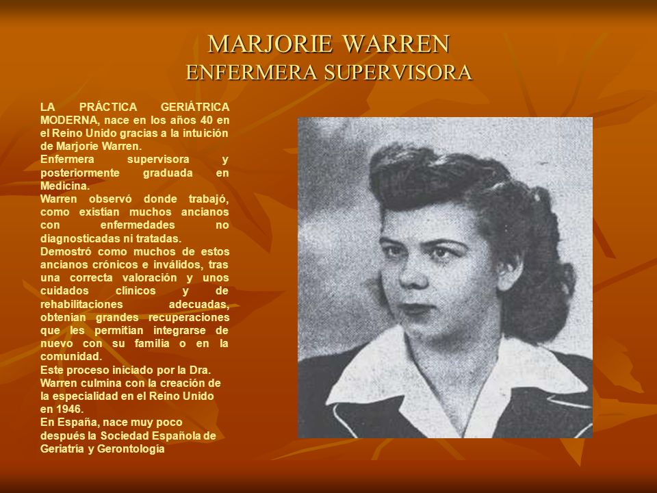 MARJORIE WARREN ENFERMERA SUPERVISORA