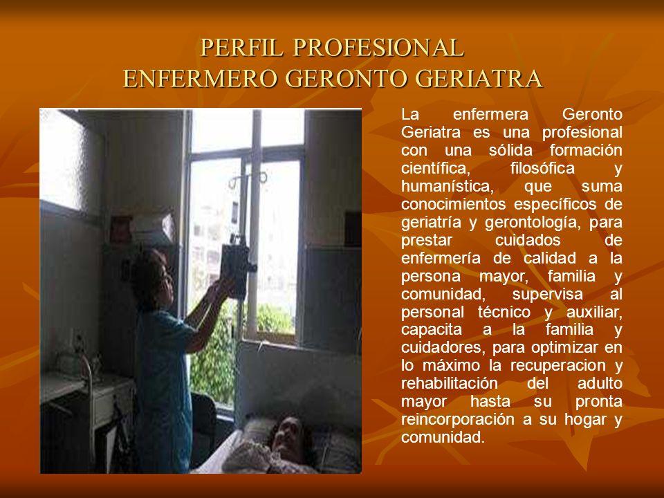PERFIL PROFESIONAL ENFERMERO GERONTO GERIATRA