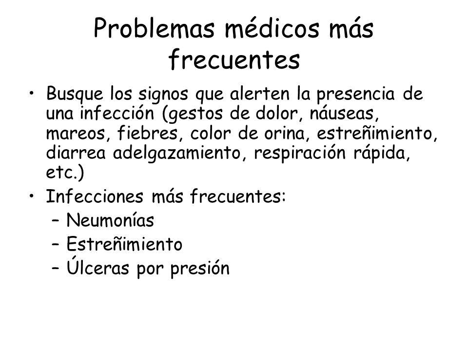 Problemas médicos más frecuentes