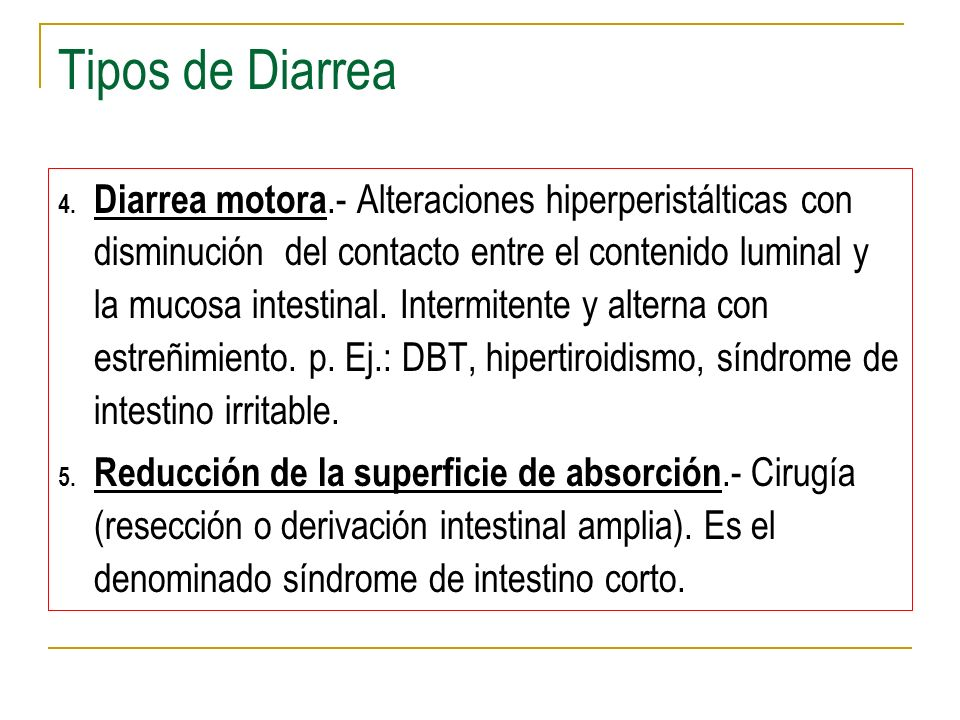 Tipos de Diarrea