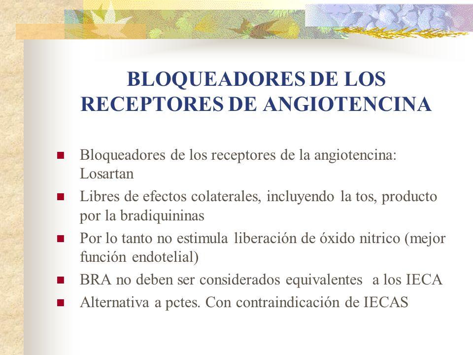 BLOQUEADORES DE LOS RECEPTORES DE ANGIOTENCINA