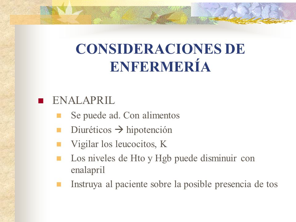 CONSIDERACIONES DE ENFERMERÍA