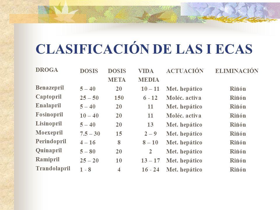 CLASIFICACIÓN DE LAS I ECAS