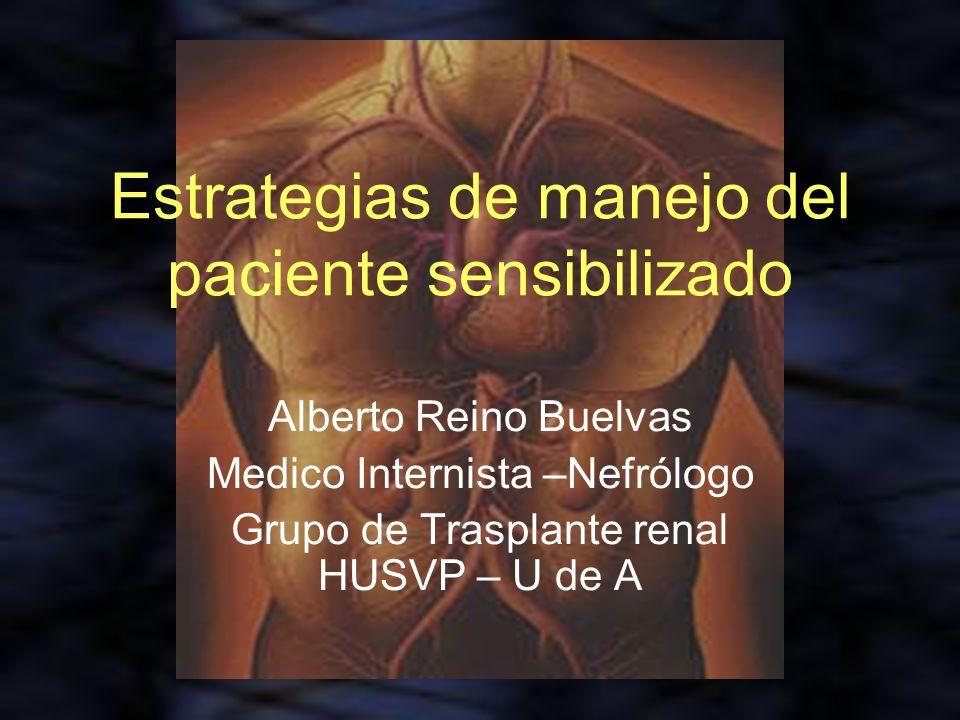 Estrategias de manejo del paciente sensibilizado