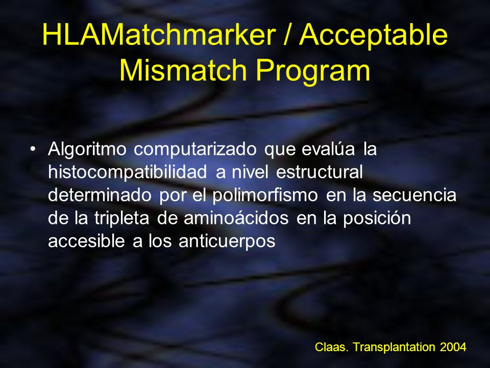 HLAMatchmarker / Acceptable Mismatch Program