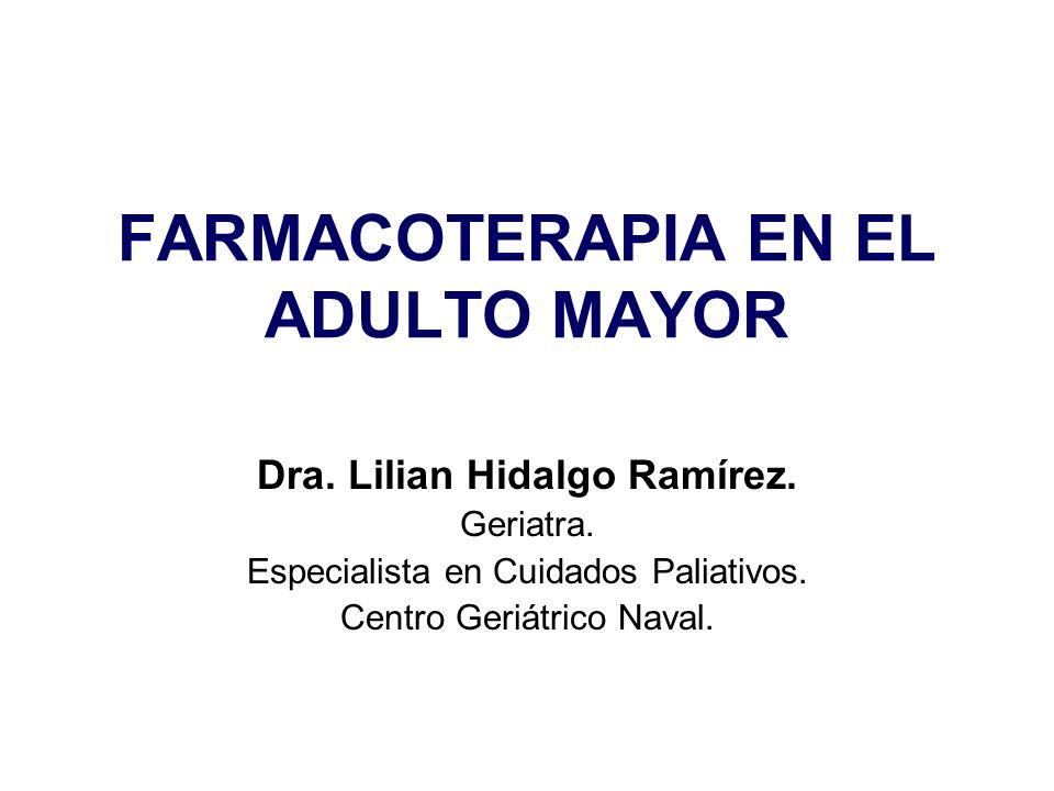 FARMACOTERAPIA EN EL ADULTO MAYOR