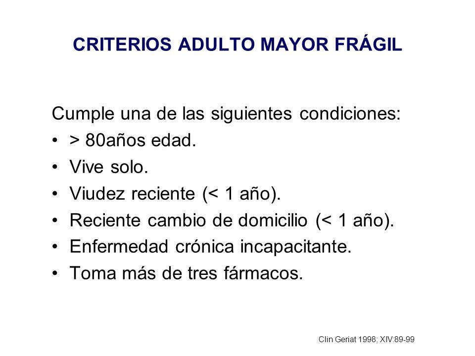 CRITERIOS ADULTO MAYOR FRÁGIL