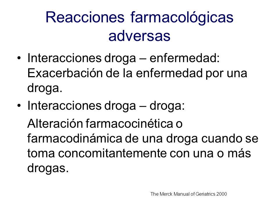 Reacciones farmacológicas adversas