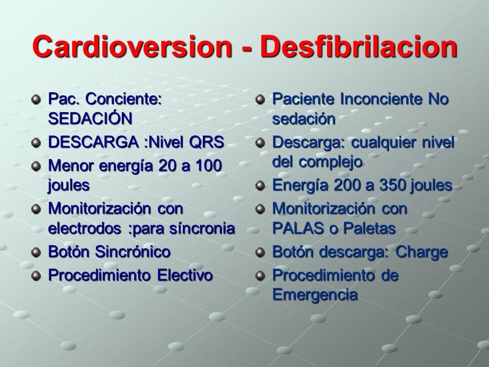 Cardioversion - Desfibrilacion