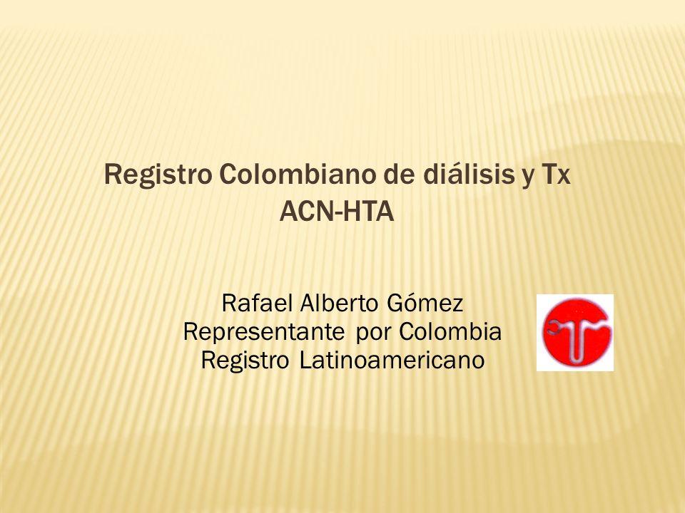 Registro Colombiano de diálisis y Tx ACN-HTA
