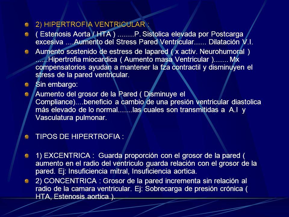 2) HIPERTROFIA VENTRICULAR :