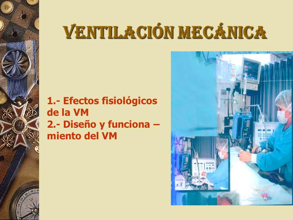 VENTILACIÓN MECÁNICA 1.- Efectos fisiológicos de la VM