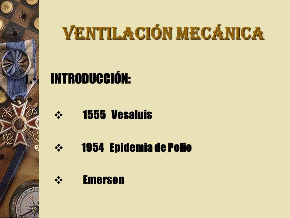 VENTILACIÓN MECÁNICA I.- INTRODUCCIÓN: 1555 Vesaluis
