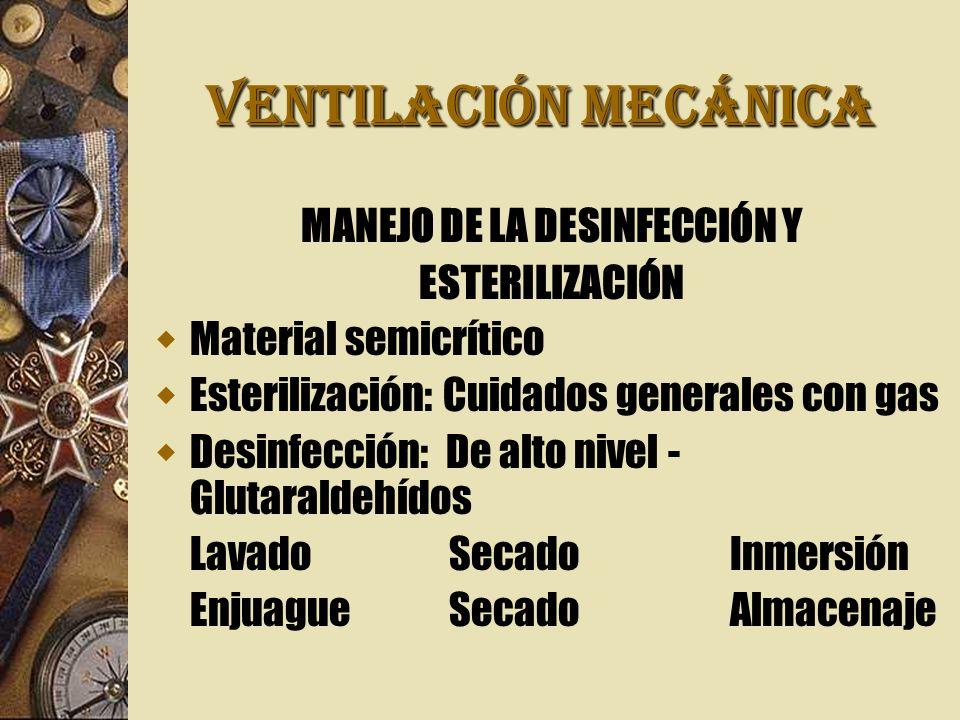 MANEJO DE LA DESINFECCIÓN Y