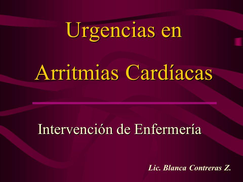 Urgencias en Arritmias Cardíacas