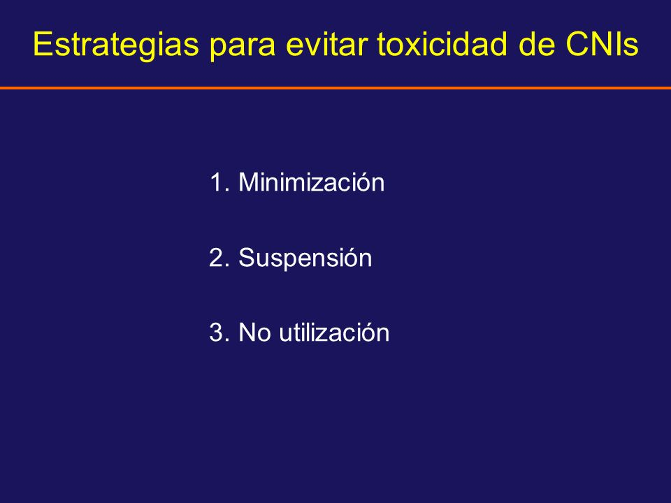 Estrategias para evitar toxicidad de CNIs