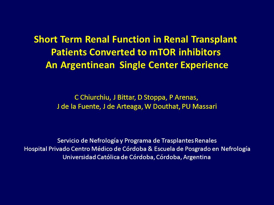 Short Term Renal Function in Renal Transplant