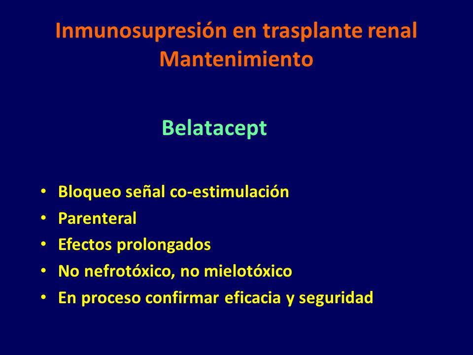 Inmunosupresión en trasplante renal Mantenimiento