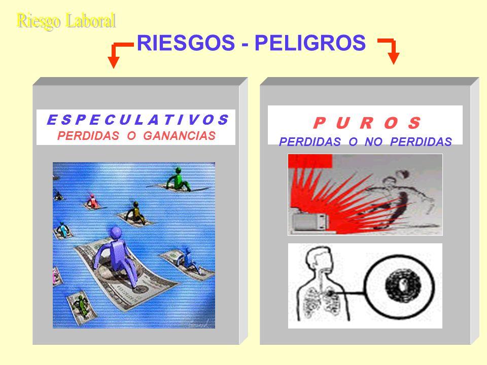RIESGOS - PELIGROS Riesgo Laboral P U R O S E S P E C U L A T I V O S