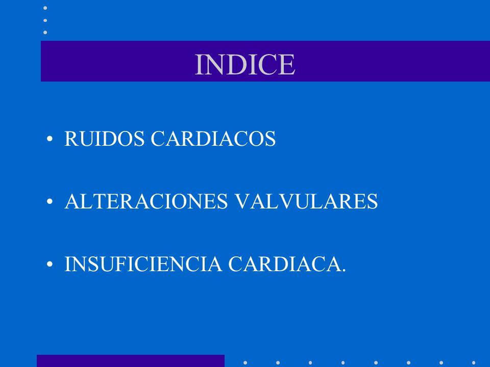 INDICE RUIDOS CARDIACOS ALTERACIONES VALVULARES