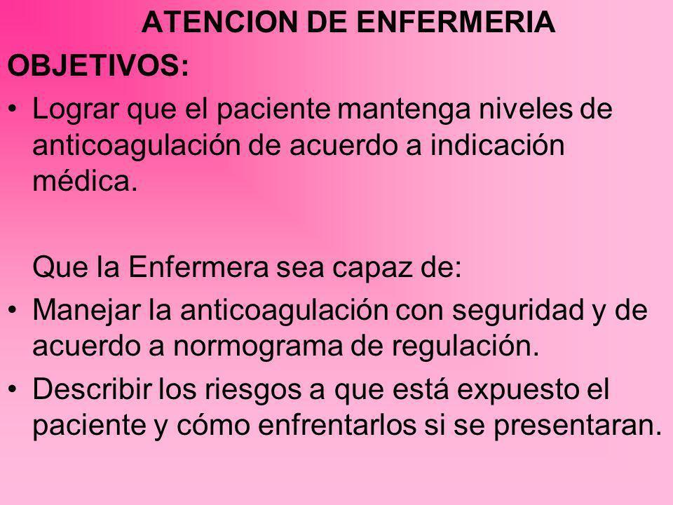 ATENCION DE ENFERMERIA