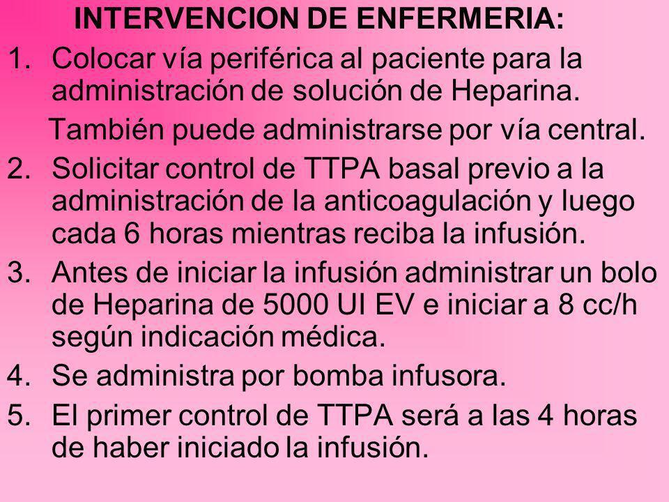 INTERVENCION DE ENFERMERIA: