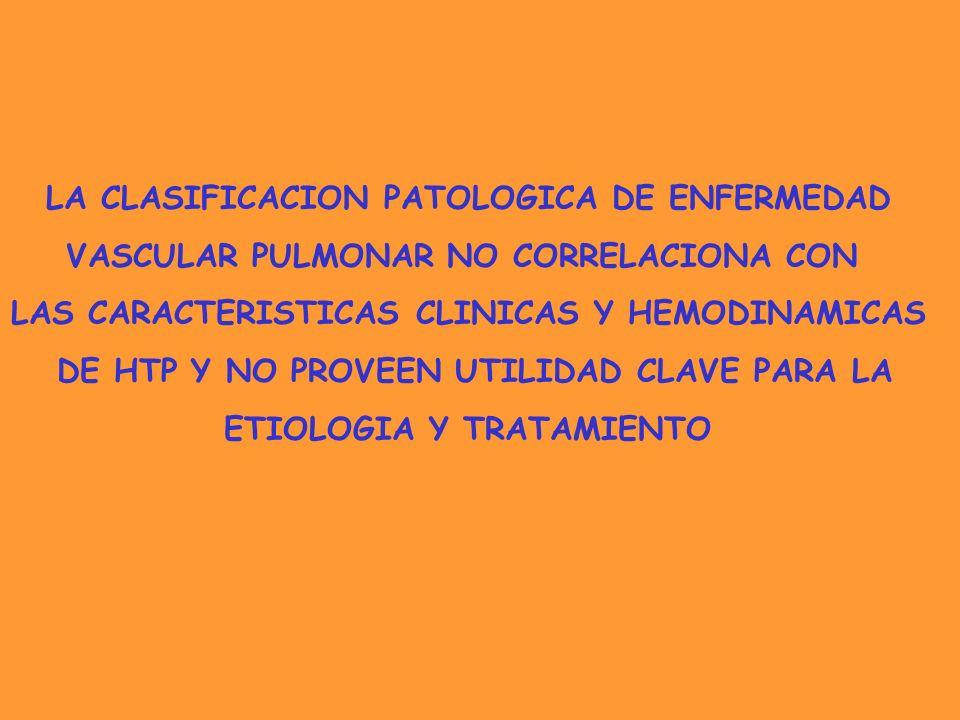 LA CLASIFICACION PATOLOGICA DE ENFERMEDAD