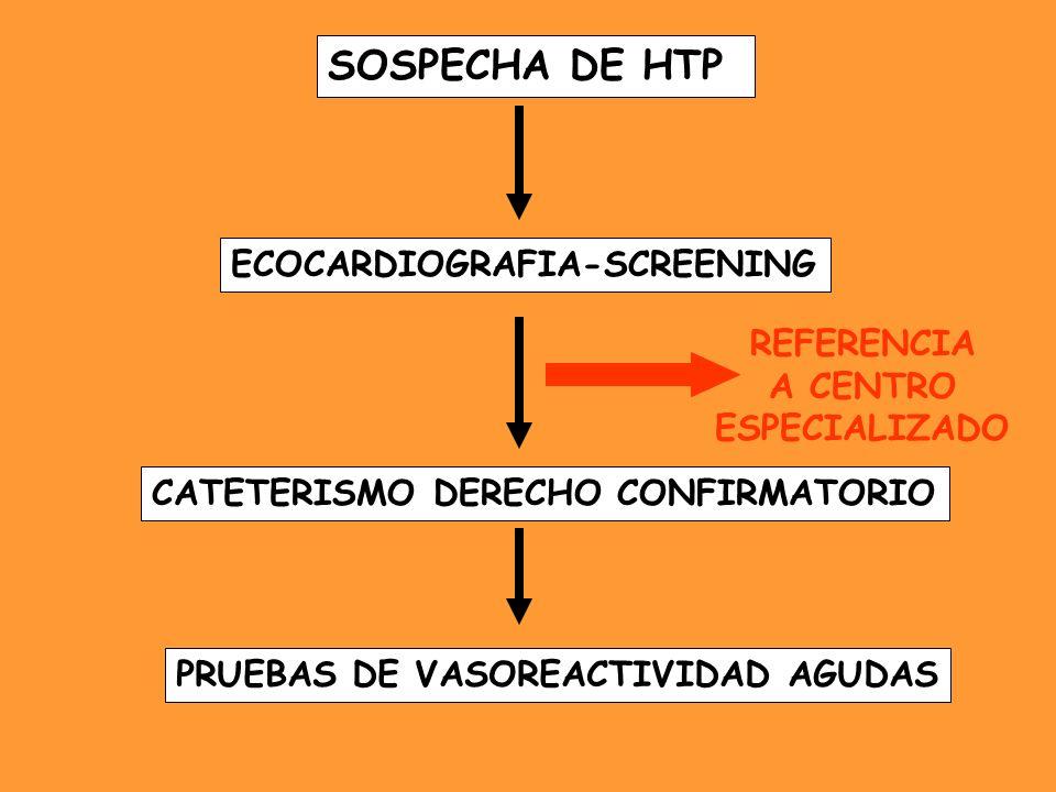 SOSPECHA DE HTP ECOCARDIOGRAFIA-SCREENING REFERENCIA A CENTRO