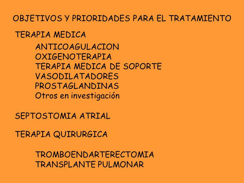 OBJETIVOS Y PRIORIDADES PARA EL TRATAMIENTO