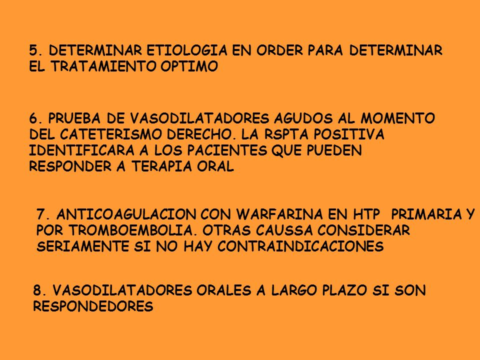 5. DETERMINAR ETIOLOGIA EN ORDER PARA DETERMINAR