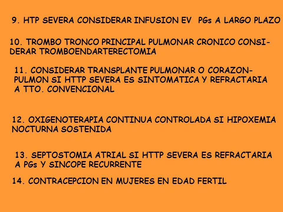 9. HTP SEVERA CONSIDERAR INFUSION EV PGs A LARGO PLAZO
