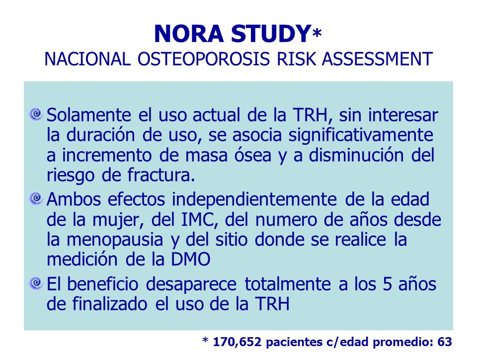 NORA STUDY* NACIONAL OSTEOPOROSIS RISK ASSESSMENT