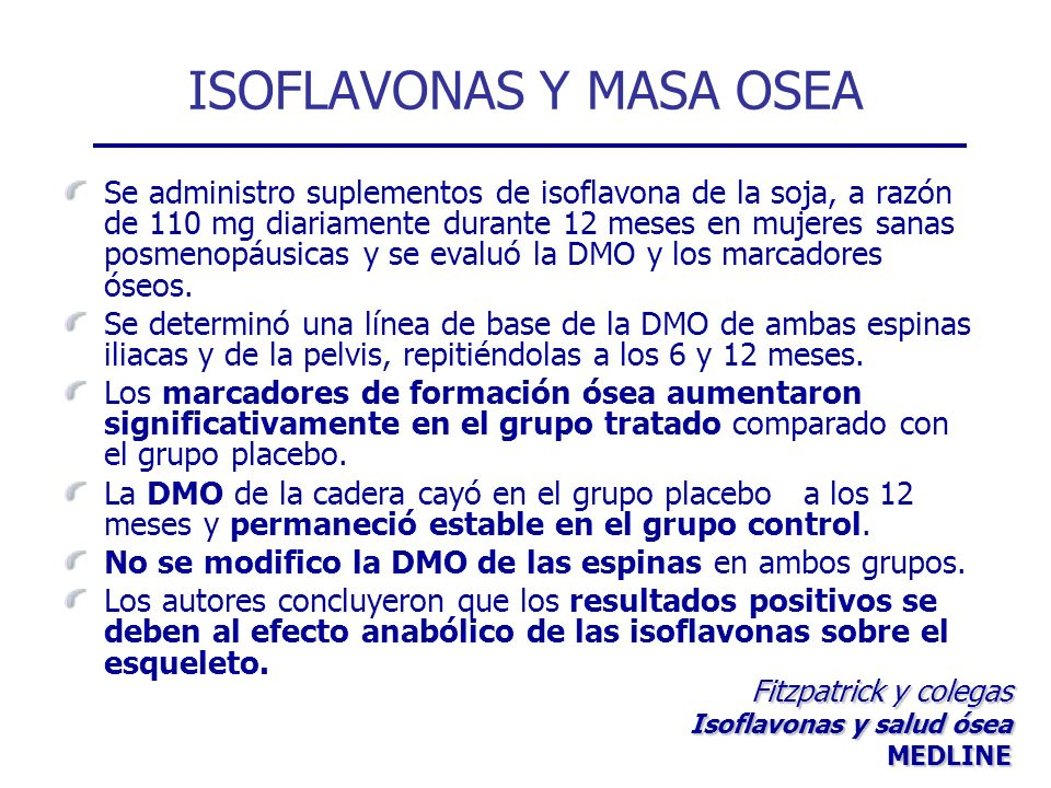 ISOFLAVONAS Y MASA OSEA