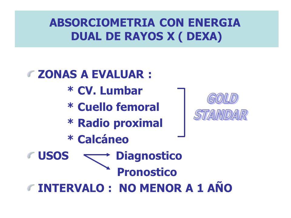 ABSORCIOMETRIA CON ENERGIA DUAL DE RAYOS X ( DEXA)