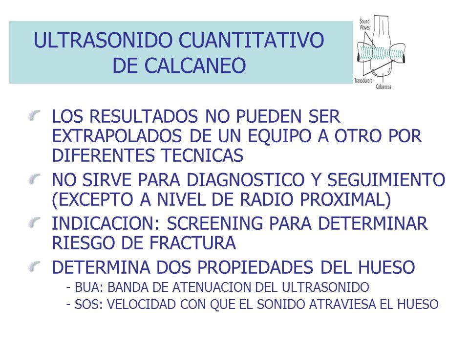ULTRASONIDO CUANTITATIVO DE CALCANEO