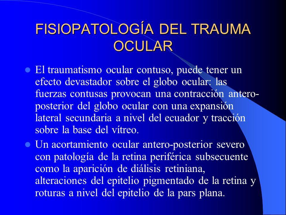 FISIOPATOLOGÍA DEL TRAUMA OCULAR