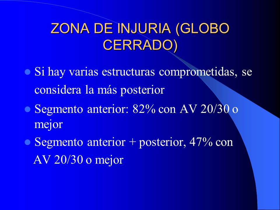 ZONA DE INJURIA (GLOBO CERRADO)