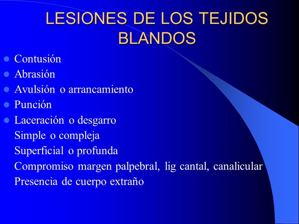 LESIONES DE LOS TEJIDOS BLANDOS